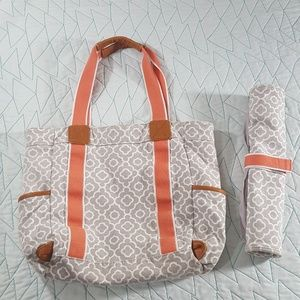 Pottery Barn Kids Diaper Bag & Changing Pad